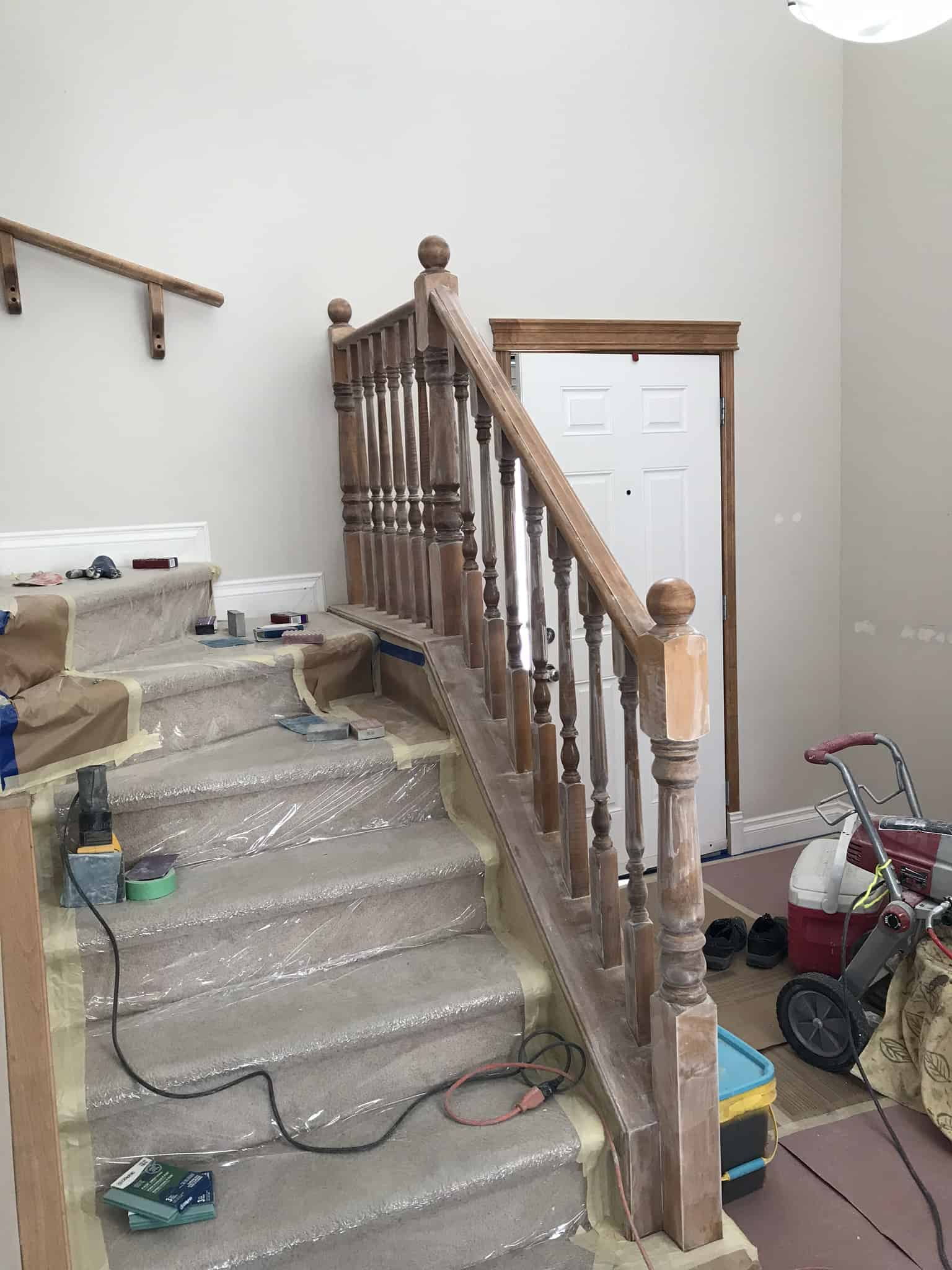 railing painting calgary